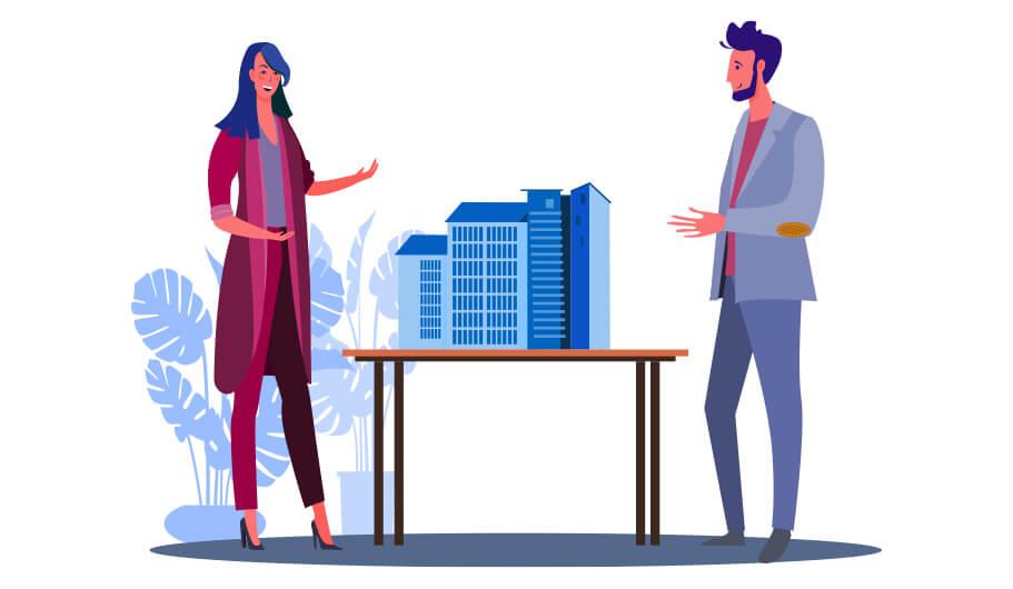 Illustration Verkaufsgespräch