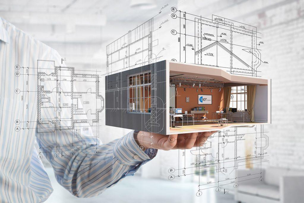3D Planung mit Maßen von Zimmer
